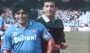 Rosario Lo Bello con Maradona negli anni 80