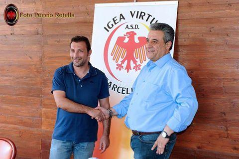 Peppe Raffaele con il presidente Nino Grasso