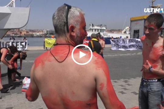 """""""Catania città aperta all'accoglienza"""" è lo slogan del presidio organizzato questa mattina al Porto dalla Rete antirazzista catanese."""
