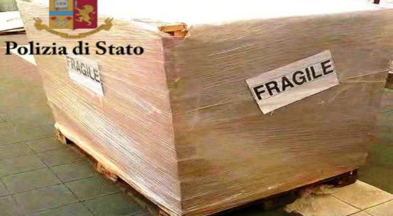 La Polizia di Stato nell'ambito dell'operazione denominata Libia, ha arrestato un uomo responsabile del trasporto di 300 kg di hashish.