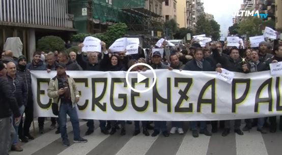 Palermo in tilt per la terza giornata di sciopero dei lavoratori ex Pip. I manifestanti hanno attraversato il centro cittadino per fermarsi in Prefettura.