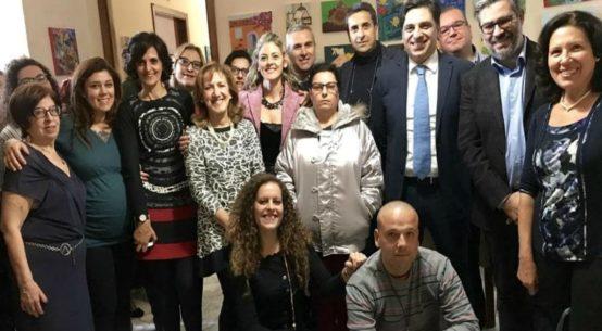 """La cooperativa """"Insieme"""" di Catania ha organizzato un pranzo di Natale con il sindaco di Catania Salvo Pogliese e l'assessore Giuseppe Lombardo."""